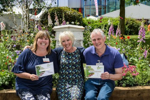 Carol Klein with Julie and Andrew Haylock