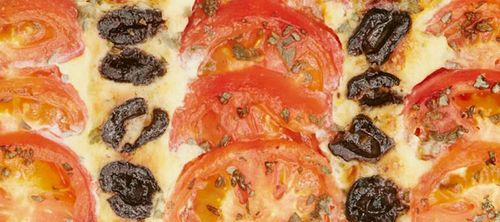 Recipe from the Veg Patch, Mary Berry's Plum Tomato, Olive and Marjoram Tart