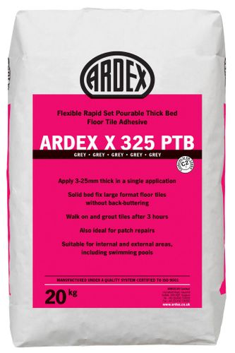 ARDEX X 325 PTB Flexible Rapid Set Pourable Thick Bed Floor Tile Adhesive