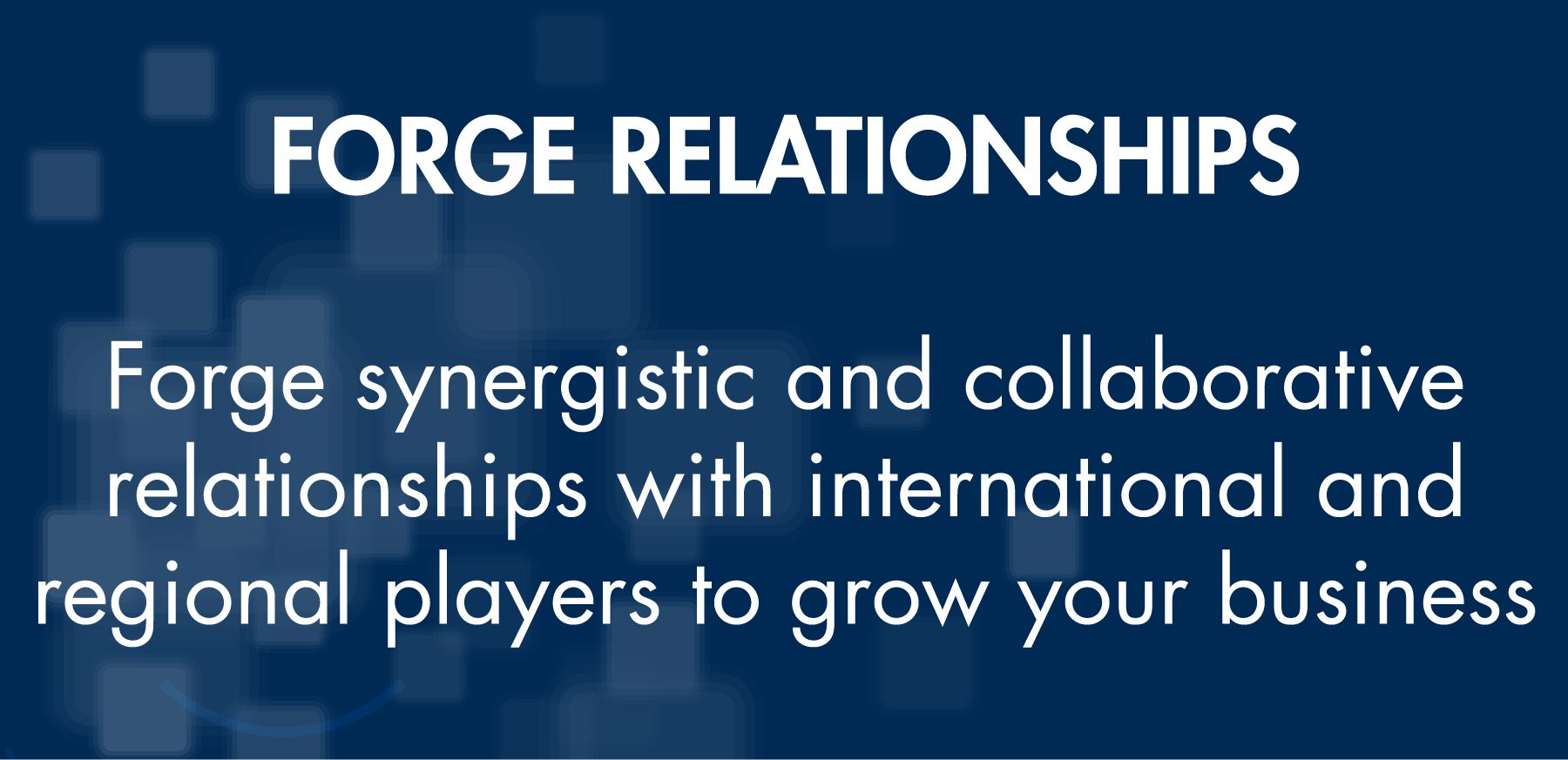 FORGE RELATIONSHIPS
