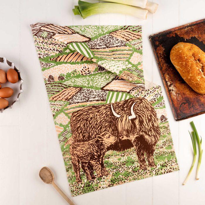 NEW Highland Cow Love Tea Towel