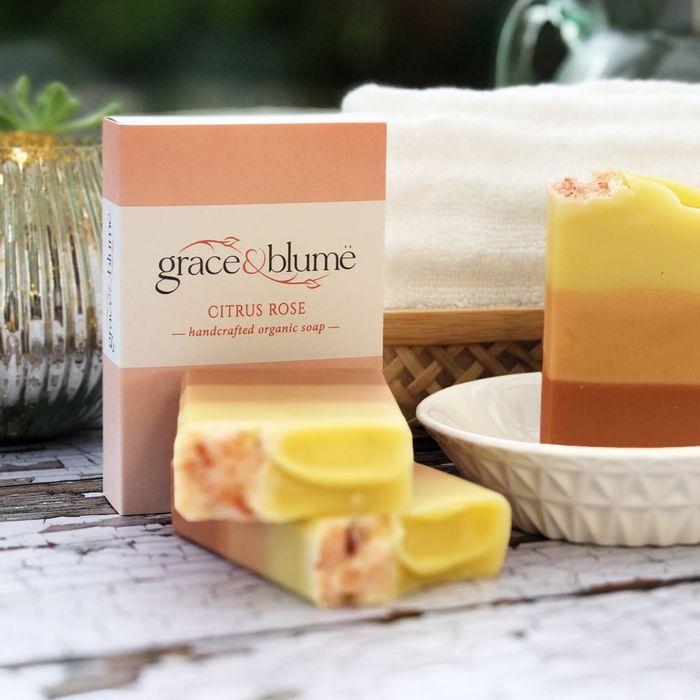 Citrus Rose handcrafted organic soap