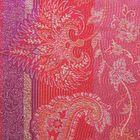 Imprinted Silk Scarf – Floral Pink