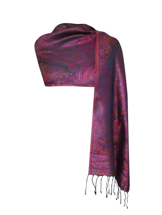 Imprinted Silk Scarf – Floral Violet