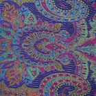 Imprinted Silk Scarf – Pink Sapphire