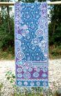 Imprinted Wool Scarf – Purple/Blue