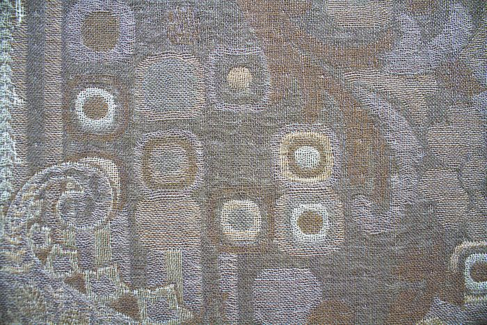 Imprinted Wool Scarf – Geometric Silver