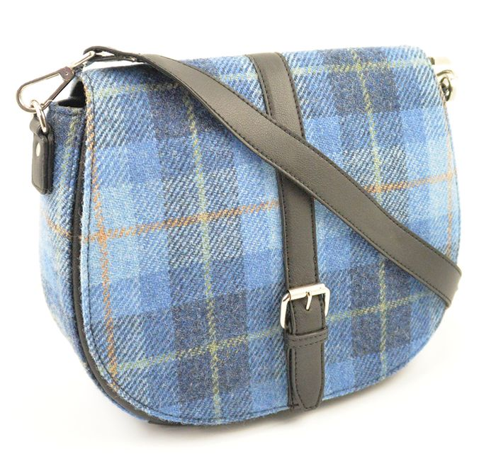 Harris Tweed  half moon shape Ladies shoulder bag