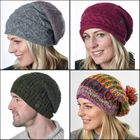 SLOUCH HATS.  Hand knit pure new sheep's wool.
