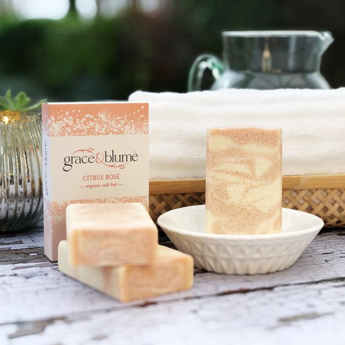 Citrus Rose organic salt bar