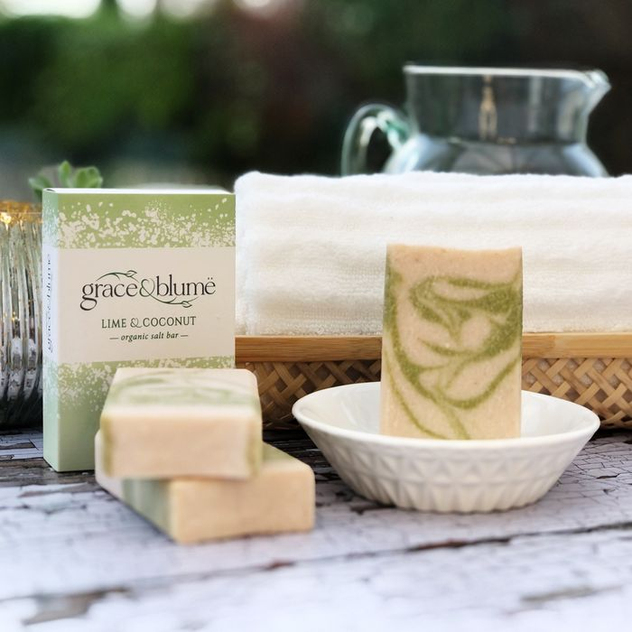 Lime & Coconut organic salt bar