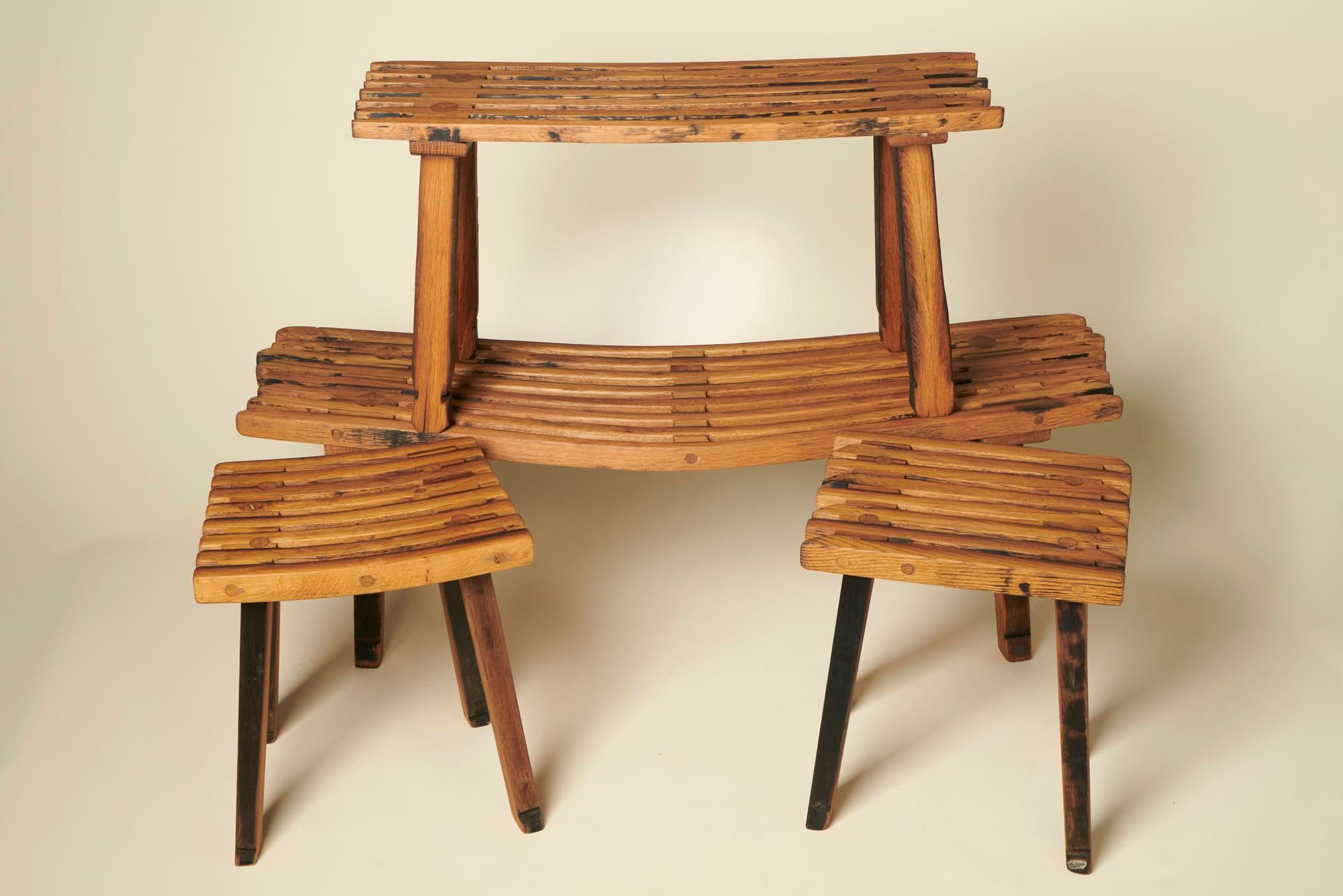 Stave benches