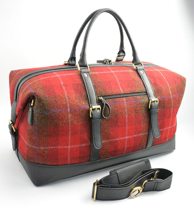 Harris Tweed Holdall Travel Bag