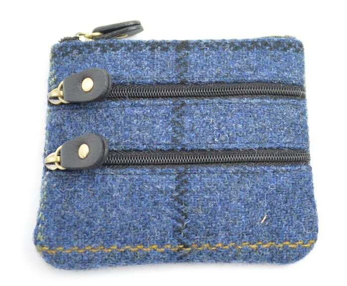 Harris Tweed Zip Coin Purse