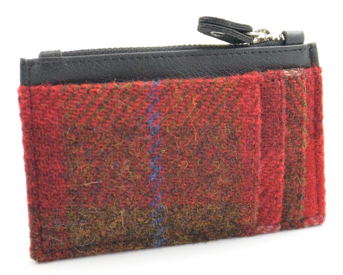 Harris Tweed Coin Purse with Credit Card Holder