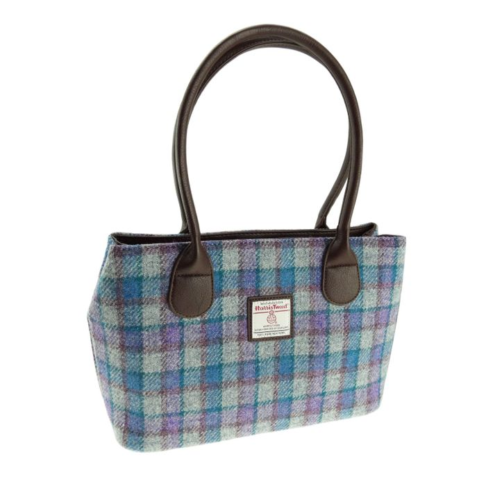 Harris Tweed 'Cassley' Classic Handbag with matching Gloves and Cap