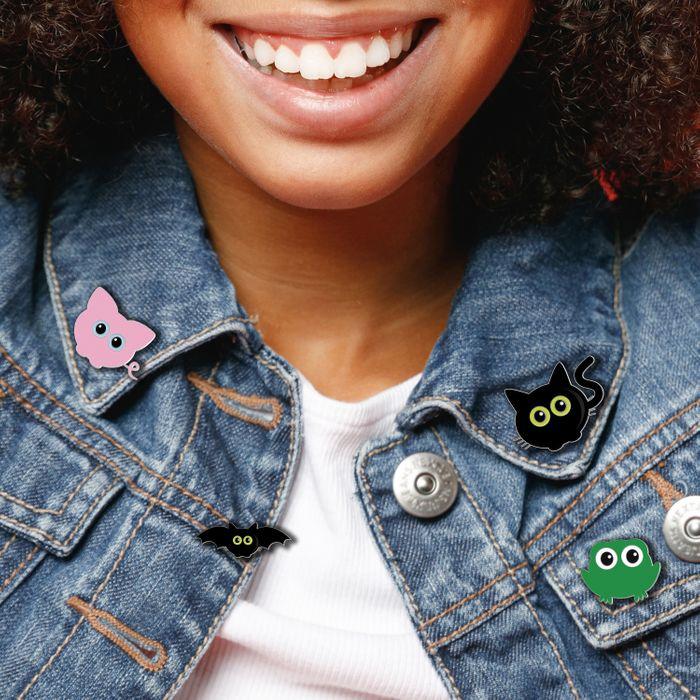 Cheez 'n' Pickle & friends enamel pin badges