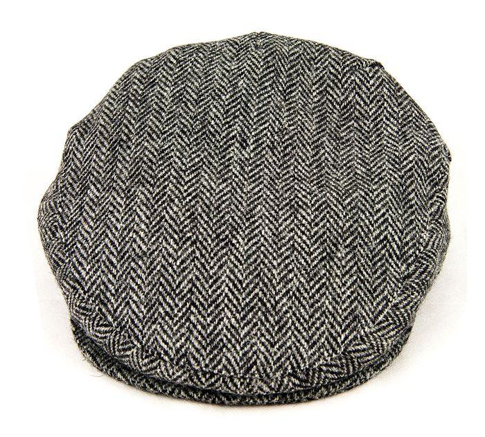 British Made Harris Tweed Flat Cap