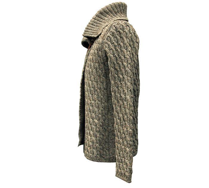British Wool Cross-Over Cardigan