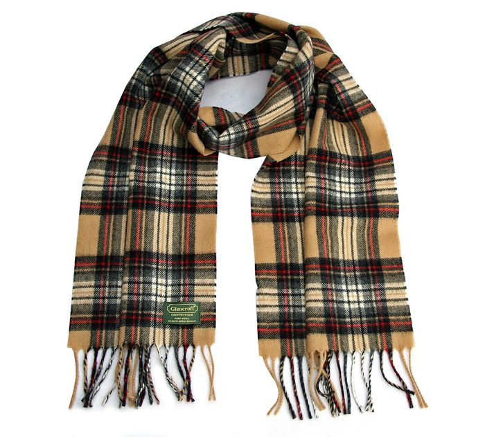 100% Wool British Made Lambswool Scarves