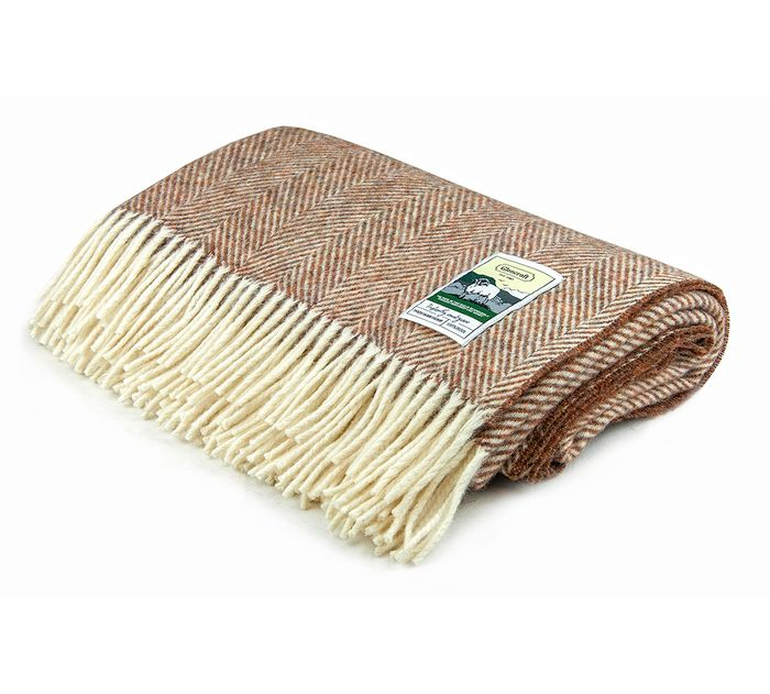 100% Wool Chunky Weave Up Travel Rug
