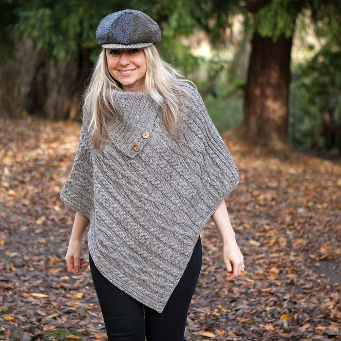 British Wool Luxury Poncho