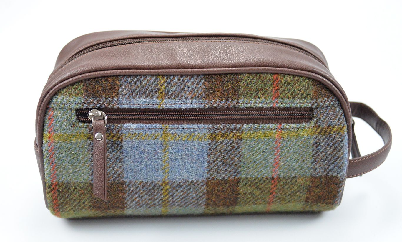 Harris Tweed small Wash Bag