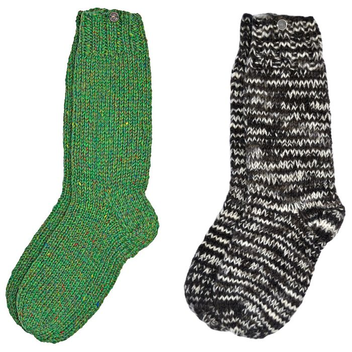 SOCKS.  Hand knit, unlined, available in three sizes.