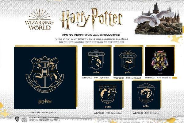 Cardology Harry Potter Foiled Cards