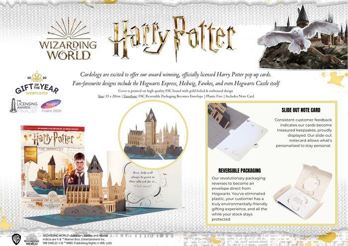 Cardology Pop-Up Harry Potter Cards