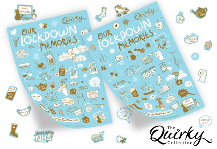 Our Lockdown Memories A5 sticker sheets