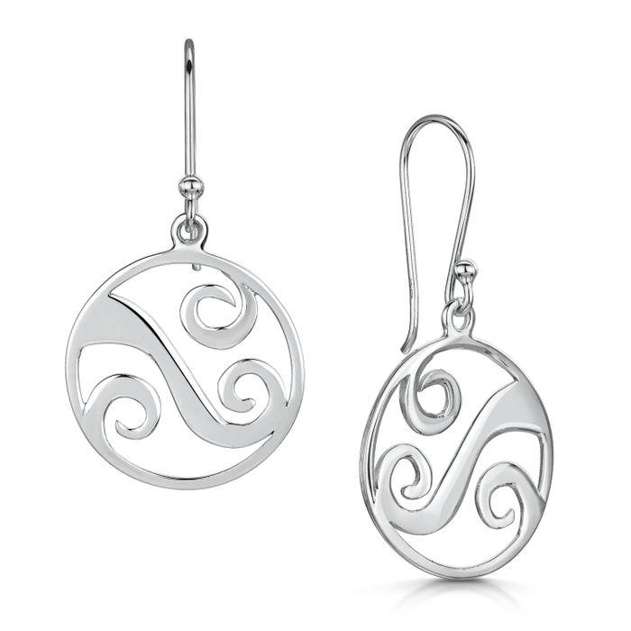 Glenna Scottish Coast Wave Drop Earrings