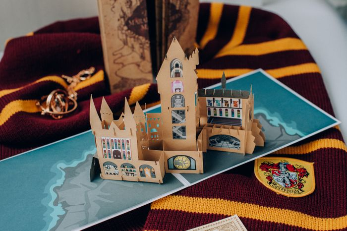 Harry Potter Hogwarts Castle Officially Licensed Pop-Up Card