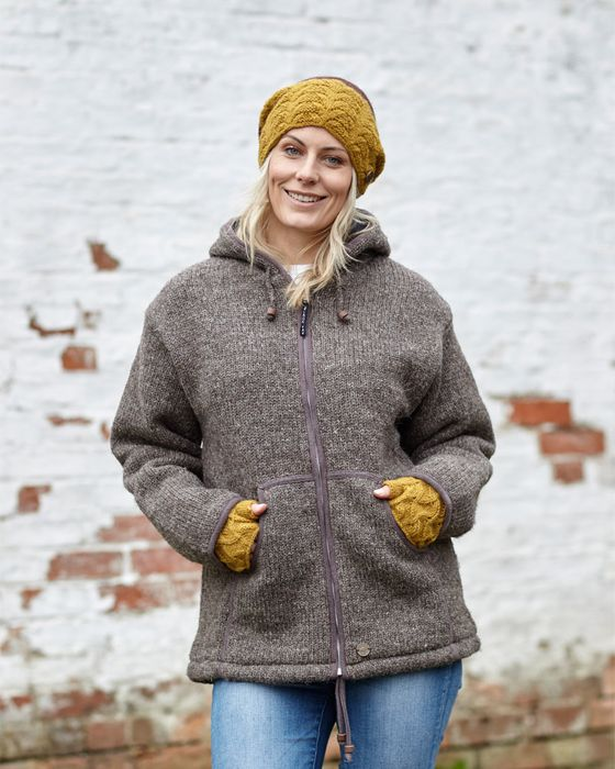 CLASSIC JACKETS.  Pure wool, plain knit, smart casual warmth.