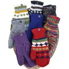 MITTENS.  Colourful, warm and traditional/trendy.  Many colour matches available in hats and headbands.