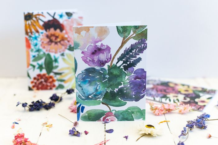 A6 Blank Floral Greetings Cards