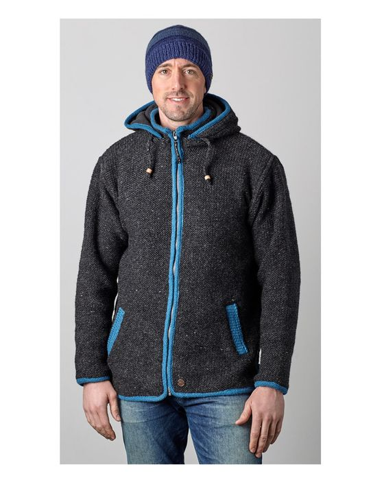 CONTRAST TRIM JACKETS.  Comfortable and casual detachable hooded jackets.