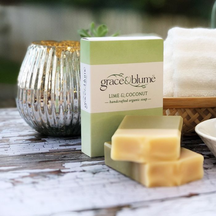 Lime & Coconut handcrafted organic soap