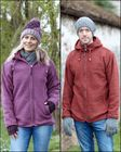 HEATHER HOODED JACKETS.  Pure wool, heather mix detachable hooded jackets.
