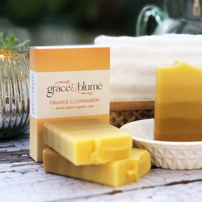 Orange & Cinnamon handcrafted organic soap