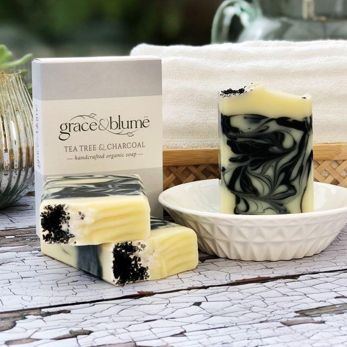 Tea Tree & Charcoal handcrafted organic soap