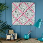 Thistle Flowers Fabric Notice Board