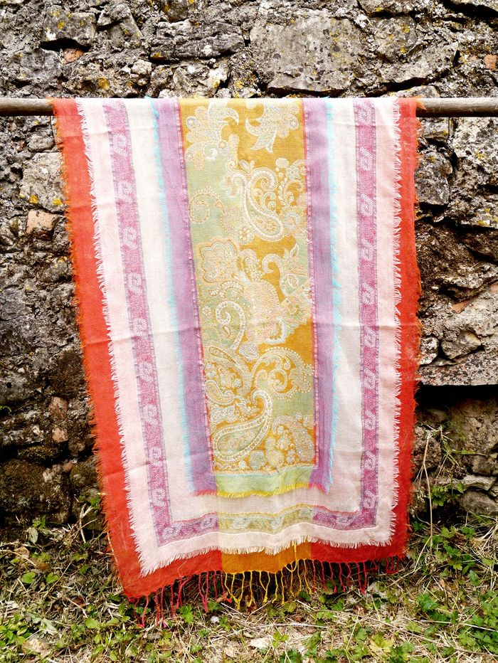 Women Printed Wool Shawl