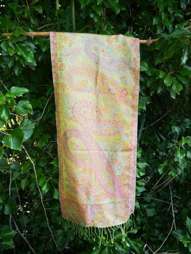 Women Printed Silk Scarf – Multi