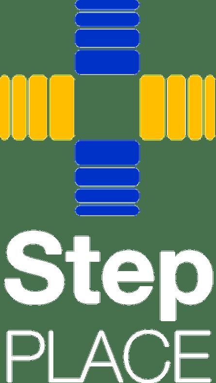 Transparent White Step Logo