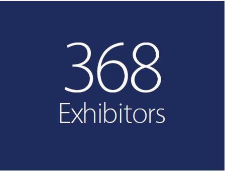 Over 360 exhibitors