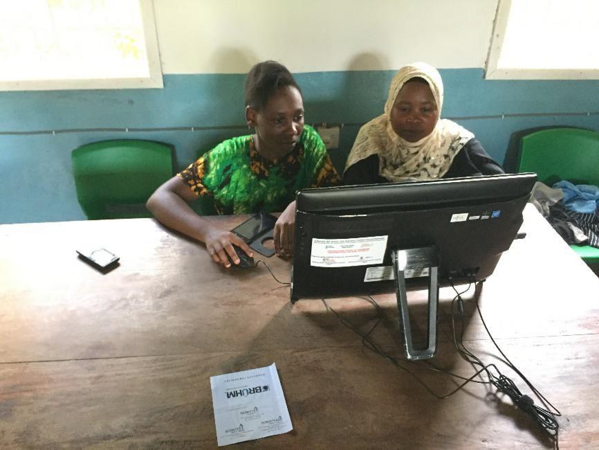 TAREA: Teachers at Malinyi using solar powered internet.