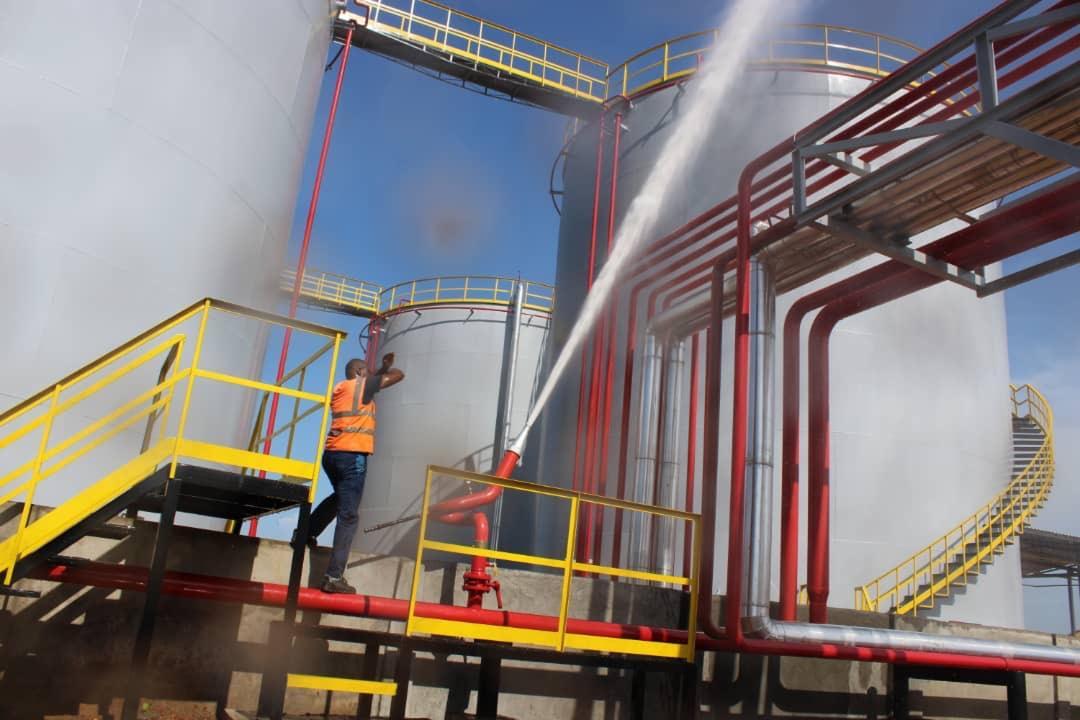 Plant fire extinguishers
