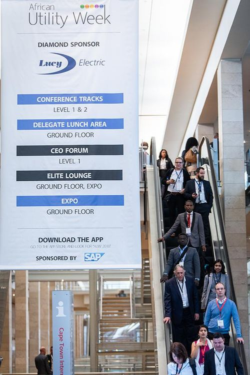 Directional signage on floor 1 with Diamond Sponsor