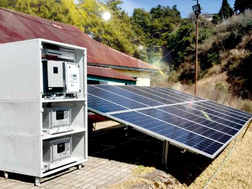 Microgrids with hydrogen fuel cells installed in rural India